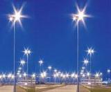 Металлические опоры для светильников внешнего освещения